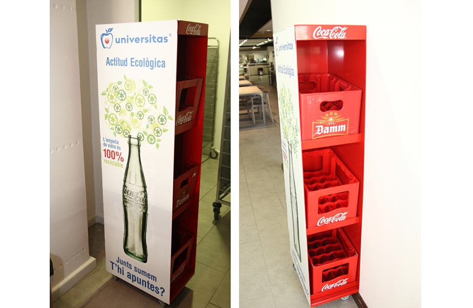 Universitas uses reusable glass bottles